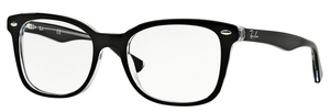 Ray Ban Glasses RX5285 Top Black on Transparent