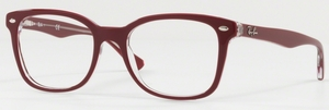 Ray Ban Glasses RX5285 Top Bordeaux on Transparent