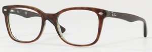 Ray Ban Glasses RX5285 Top Havana On Green Transparent