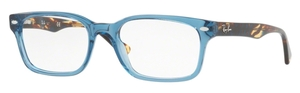Ray Ban Glasses RX 5286 Shiny Transparent Blue