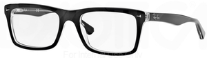 Ray Ban Glasses RX5287 Top Black on Transparent