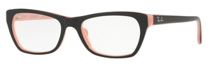 Ray Ban Glasses RX5298 Top Black On Pink