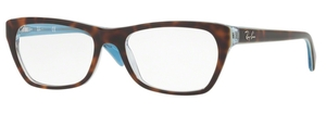 Ray Ban Glasses RX5298 Top Havana on Havana Blue