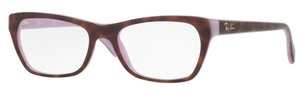 Ray Ban Glasses RX5298 Top Havana on Violet