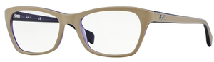 Ray Ban Glasses RX5298 Top Matte Beige on Trasp Viole