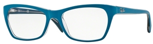 Ray Ban Glasses RX5298 Top Matte Blue on Trasp Beige