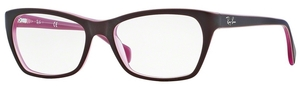 Ray Ban Glasses RX5298 Top Matte Brown on Opal Pink