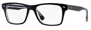 Ray Ban Glasses RX5308 Top Black on Transparent