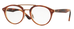 Ray Ban Glasses RX5354F Top Havana Brown/Horn Beige