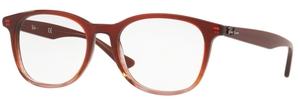 Ray Ban Glasses RX5356 Brown on Stripped Brown