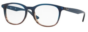 Ray Ban Glasses RX5356 Gradient Blue on Stripped Grey