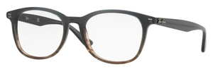 Ray Ban Glasses RX5356 Gradient Grey on Stripped Grey