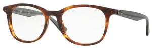 Ray Ban Glasses RX5356 Shiny Havana / Grey Temples