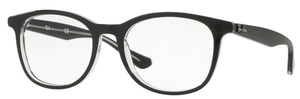 Ray Ban Glasses RX5356 Top Black on Transparent