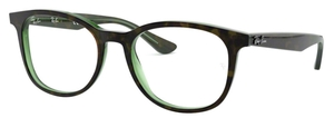 Ray Ban Glasses RX5356 Top Havana On Green Transparent