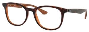 Ray Ban Glasses RX5356 Top Havana on Light Brown