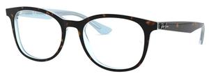 Ray Ban Glasses RX5356 Top Havana on Shiny Light Blue