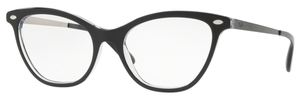 Ray Ban Glasses RX5360 Top Black on Transparent