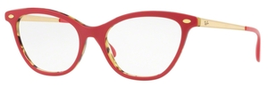 Ray Ban Glasses RX5360 Top Bordeaux on Havana Green