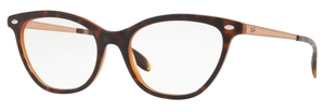 Ray Ban Glasses RX5360 Top Havana on Light Blue