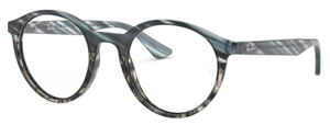 Ray Ban Glasses RX5361 Blue Gradient Grey Striped