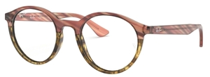 Ray Ban Glasses RX5361 Pink Gradient Striped Beige