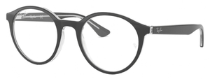 Ray Ban Glasses RX5361 Top Black on Transparent