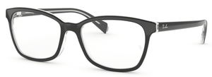 Ray Ban Glasses RX5362 F (Asian Fit) Top Black on Transparent