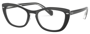 Ray Ban Glasses RX5366 Top Black on Transparent