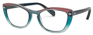 Ray Ban Glasses RX5366 Tri-Gradient Blue/Red/Azure