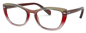 Ray Ban Glasses RX5366 Tri-Gradient Bordeaux/Grey/Pink