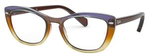 Ray Ban Glasses RX5366 Tri-Gradient Brown/Violet/Yellow