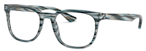 Ray Ban Glasses RX5369 Striped Blue Grey