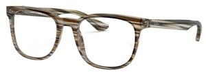 Ray Ban Glasses RX5369 Striped Brown Grey