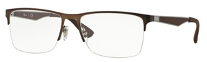 Ray Ban Glasses RX6335 Dark Matte Brown