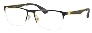 Ray Ban Glasses RX6335 Gold Top On Black