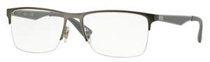 Ray Ban Glasses RX6335 Matte Gunmetal / Gunmetal