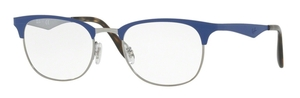 Ray Ban Glasses RX6346 Gunmetal/Matte Light Blue