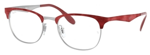 Ray Ban Glasses RX6346 Matte Silver Top Matte Red