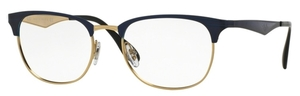 Ray Ban Glasses RX6346 Top Brushed Dark Blue On Gold