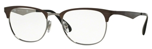 Ray Ban Glasses RX6346 Top Brushed Dark Brown on Gunmetal