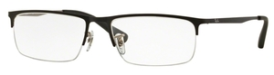 Ray Ban Glasses RX6349D Top Matte Black on Matte Silver