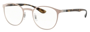 Ray Ban Glasses RX6355 Brushed Light Brown
