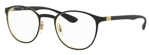 Ray Ban Glasses RX6355 Gold on Top Matte Black