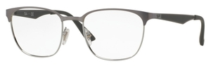Ray Ban Glasses RX6356 Top Brushed Gunmetal on Silver