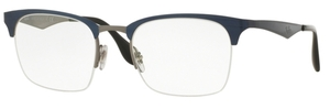 Ray Ban Glasses RX6360 Top Shiny Blue on Gunmetal