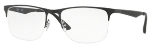 Ray Ban Glasses RX6362 Silver/Top Shiny Black