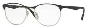 Ray Ban Glasses RX6365 Silver Top on Black