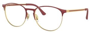 Ray Ban Glasses RX6375 Gold Top on Bordeaux