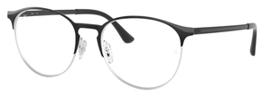 Ray Ban Glasses RX6375 Silver on Top Black
